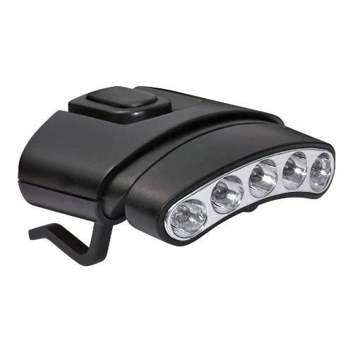 Cyclops CYC-HCDT-WR Tilt White/Green LED Hat Clip Light, Black Multi-Colored