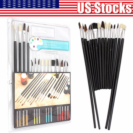 On Clearance 15 Paint Brush Set All Purpose Watercolor Acrylic Art Craft Artist