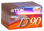90-Minute Audio Tapes (6-Pack) (D90S6F) (Discontinued by Manufacturer), By TDK From USA by TDK