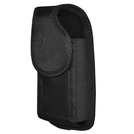 HTC Alpine Pouch Holster Heavy Duty Vertical Rugged Nylon Case with Metal Belt Clip and Belt Loop - Black