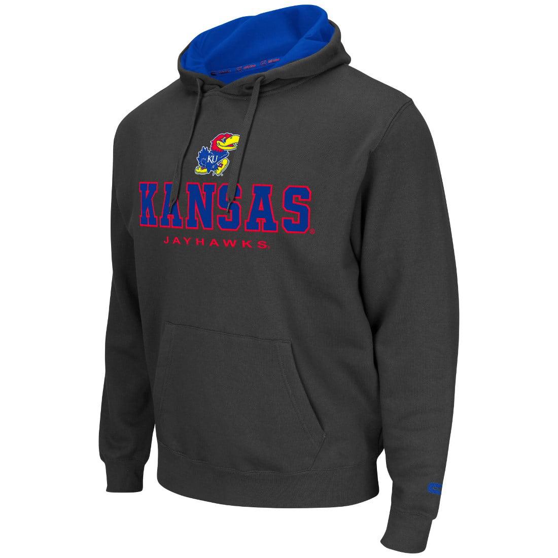"Kansas Jayhawks NCAA ""Zone II"" Pullover Hooded Men's Sweatshirt - Charcoal"