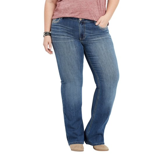 c4d5c80f528ce Plus Size DenimFlex TM Bling Back Pocket Bootcut Jean - Walmart.com