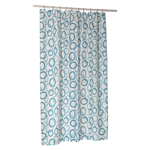 Ben and Jonah Circles Shower Curtain Liner