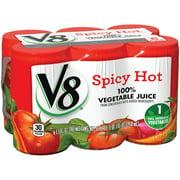 V8 Vegetable Spicy Hot Juice, 6 Ct/33 fl oz