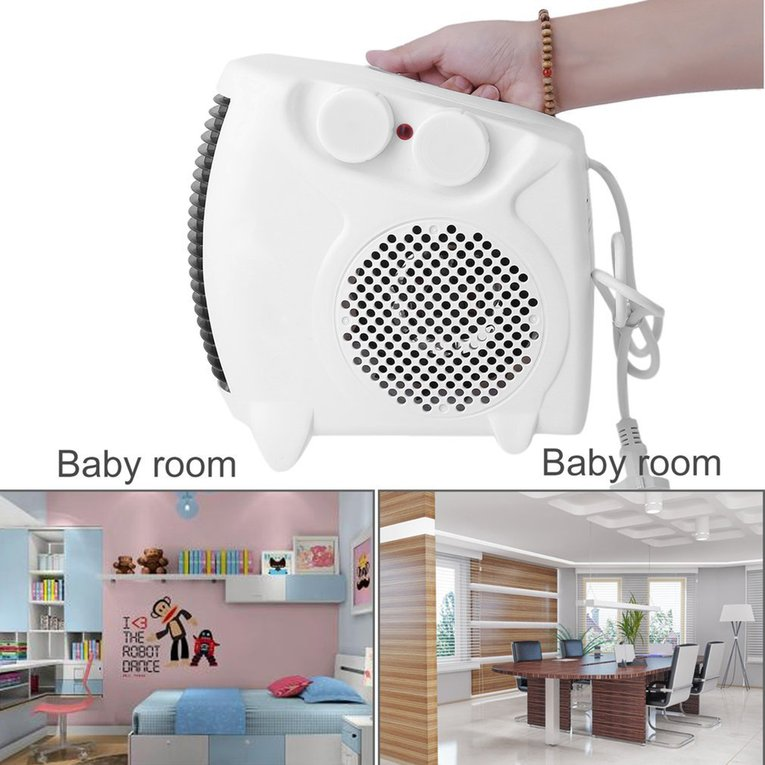 Mini Portable Electric Heater Bathroom Warm Air Blower Fan Home Heater Adjustable