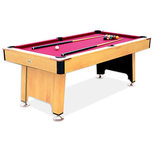 Minnesota Fats Billiard Table With Ball Return System, Light Cherry Finish