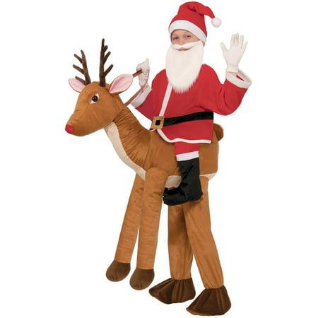 Children's Ride on a Reindeer Child Halloween Costume, 1 Size - Make Reindeer Costume