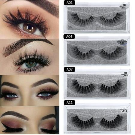 15 Styles 3D Mink False Eyelashes Wispy Long Thick Soft Lashes Natural Women Eye Makeup