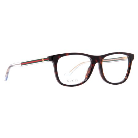 8497c939ff4 Gucci GG 3725 WZ3 Dark Havana Green Red Unisex Eyeglasses - Walmart.com