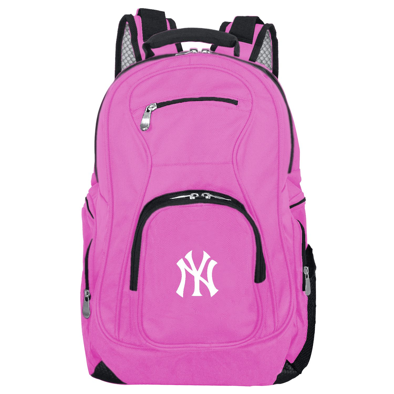 MLB New York Yankees Pink Premium Laptop Backpack