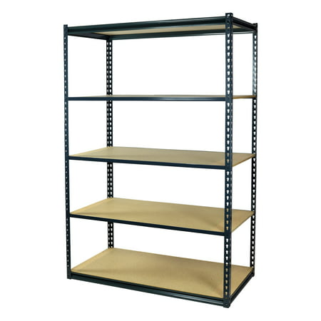 Storage Max Garage Shelving Boltless, 48 x 12 x 72, Low Profile, 5 Shelves