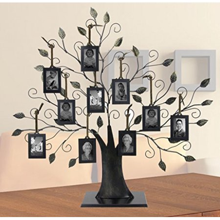 Large Family Tree with 10 Hanging Photo Frames ()