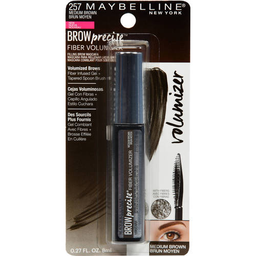 Maybelline Brow Precise Fiber Volumizer Brow Mascara, Medium Brown
