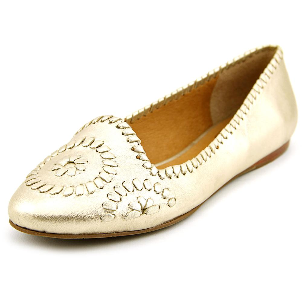 Jack Rogers Waverly Women US 6.5 Gold Flats