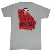 Georgia Bulldogs Where The Heart Is T-Shirt