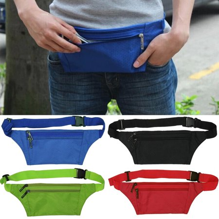 Unisex Running Bum Bag Travel Handy Hiking Sport Fanny Pack Waist Belt Zip Pouch