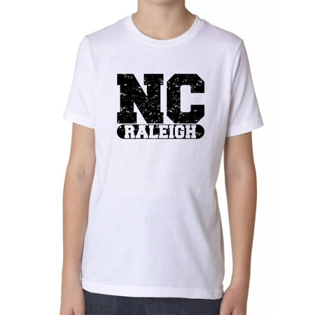 Raleigh, North Carolina NC Classic City State Sign Boy's Cotton Youth T-Shirt