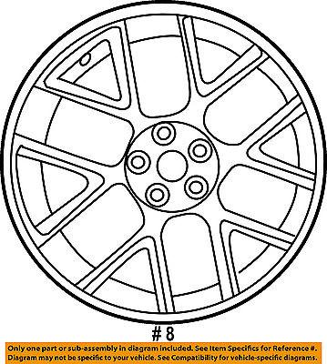 Dodge Chrysler Oem 2016 Challenger Wheel Alloy Aluminum 5rn84malac