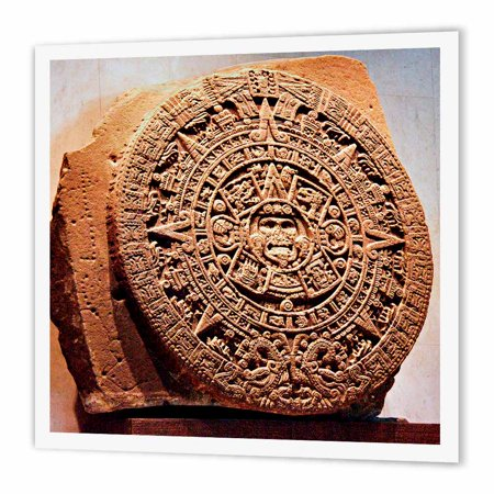 3Drose Mexico City  Sun Stone Called Aztec Calendar   Sa13 Mgl0000   Miva Stock  Iron On Heat Transfer  10 By 10 Inch  For White Material