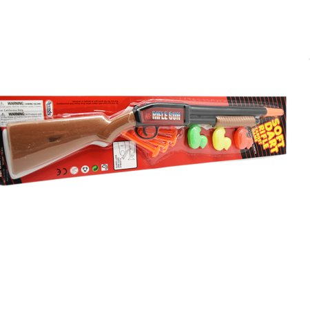 Pump Action Long Barrel Shotgun Soft Dart Shooter Rifle Toy Gun With Target Assorted Styles / Great Gift idea