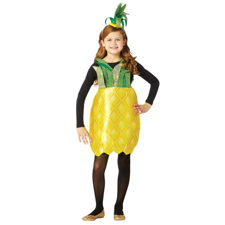 Sparkling Pineapple Dress Child Halloween Costume, One Size, - Pineapple Carving Halloween