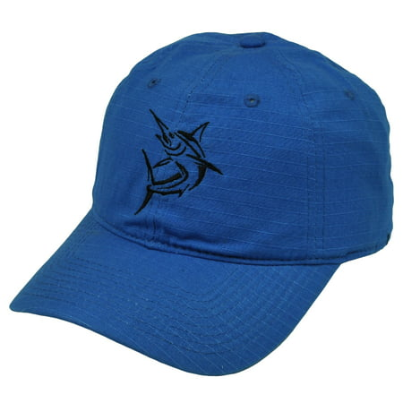 Swordfish Fishing Blue  Hat Cap Camp Outdoors Fish Relaxed Broadbill (Dead Fish Hat)