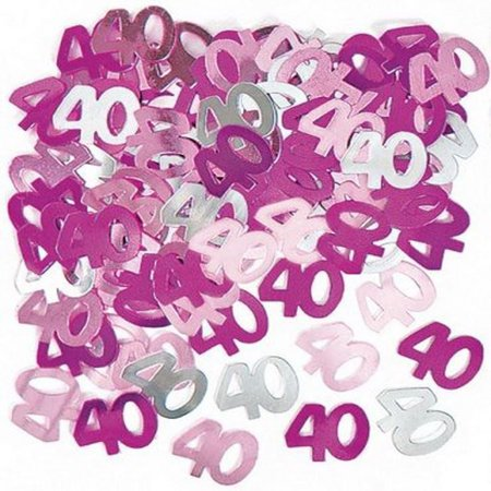3 x 14g 40th Pink Happy Birthday Party Glitz Table Confetti Sprinkles Decorations (Sprinkles Birthday Party)