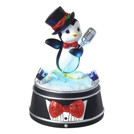 Precious Moments Precious Performing Penguin LED lights Music Box 8 Songs Resin Figurine 161109