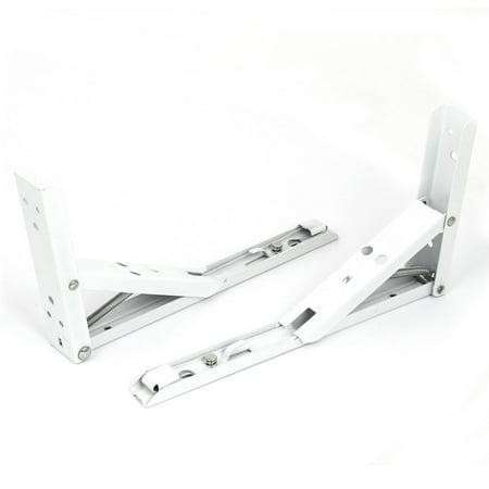 Kitchen Counter Extensions 90 Degree Folding Triangle Shelf Bracket 2pcs - image 1 de 3