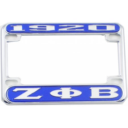 Zeta Phi Beta 1920 Motorcycle License Plate Frame [Blue/Silver ...