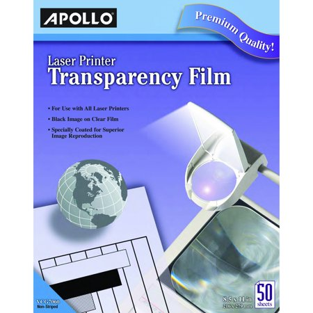 Apollo VCG7060E Laser Jet Printer and Copier Transparency Film, 50 Sheets (CG7060) Apollo Laser Printer Transparency Film