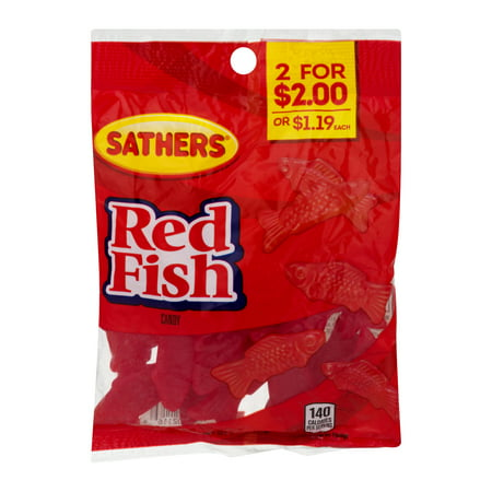 Sathers Red Fish Gummy Candy, 3.5 Oz - Gummy Cat
