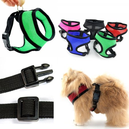 Iclover Adjustable Pet Dog Control Harness Collar Safety Soft Pet Walking Harness Mesh Vest For Puppies Dogs Cat Innovative No Pull   No Choke Design  S