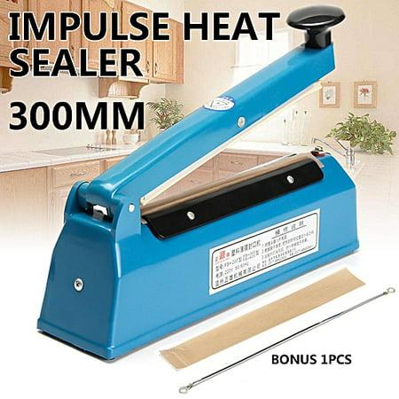 200mm/300mm) Impulse Sealer - Manual Plastic Poly Bag Heat Sealing