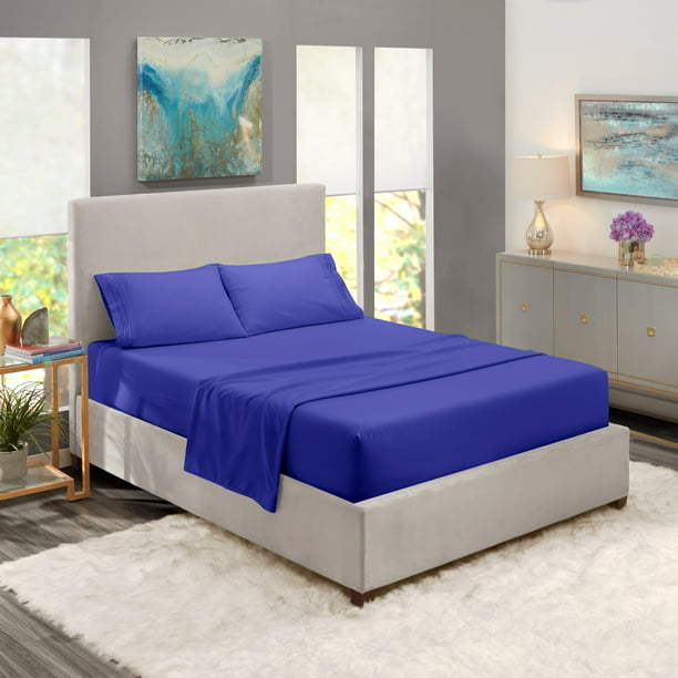 Queen Size Bed Sheets Set Royal Blue, Royal Blue Queen Bed Sheets