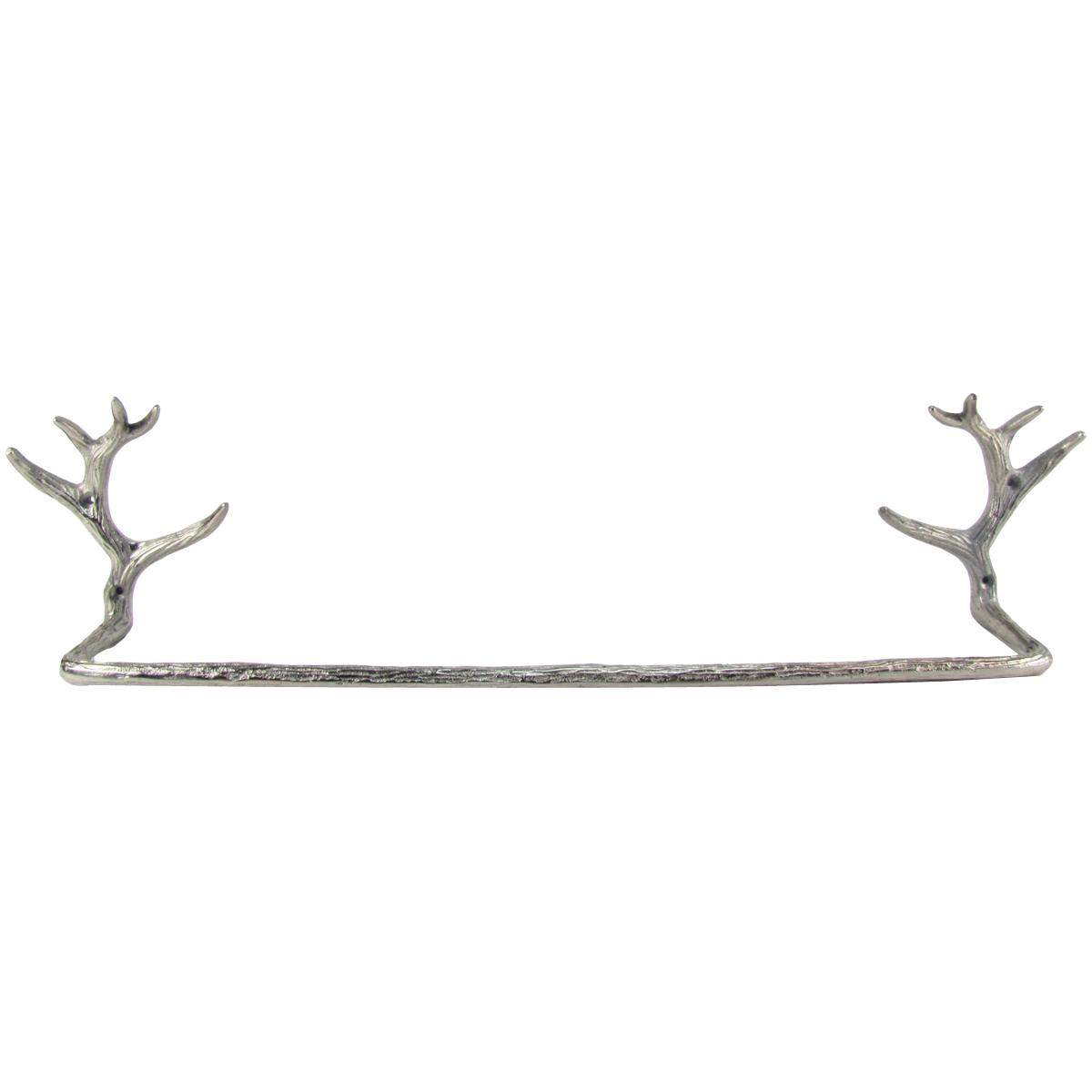 Wall Mount Deer Antler Towel Bar Holder Rack Rustic Hunti...