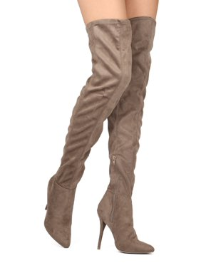 0d04c73423e Product Image New Women Wild Diva Bonnie-02 Faux Suede Thigh High Pointy  Toe Stiletto Boot