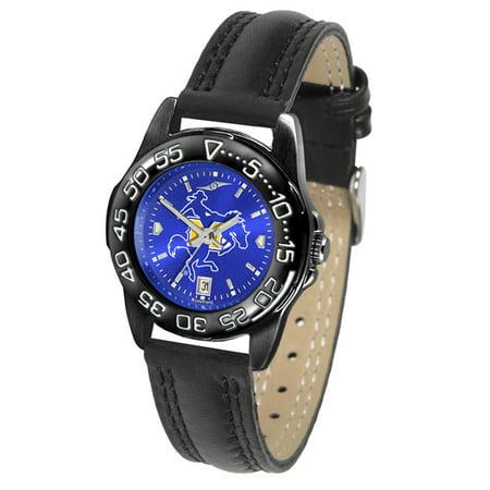 Mcneese State Watch - Linkswalker Mcneese State Cowboys Ladies Fantom Bandit Anochrome Watch