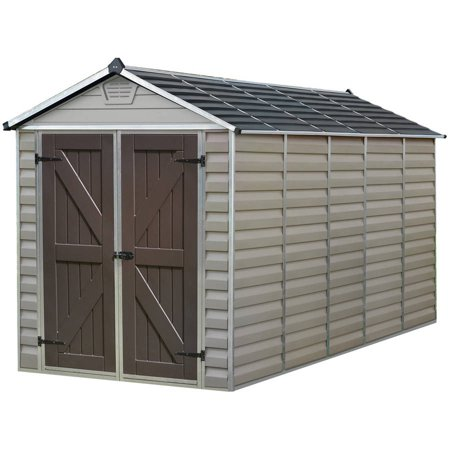 palram skylight storage shed 6 x 12