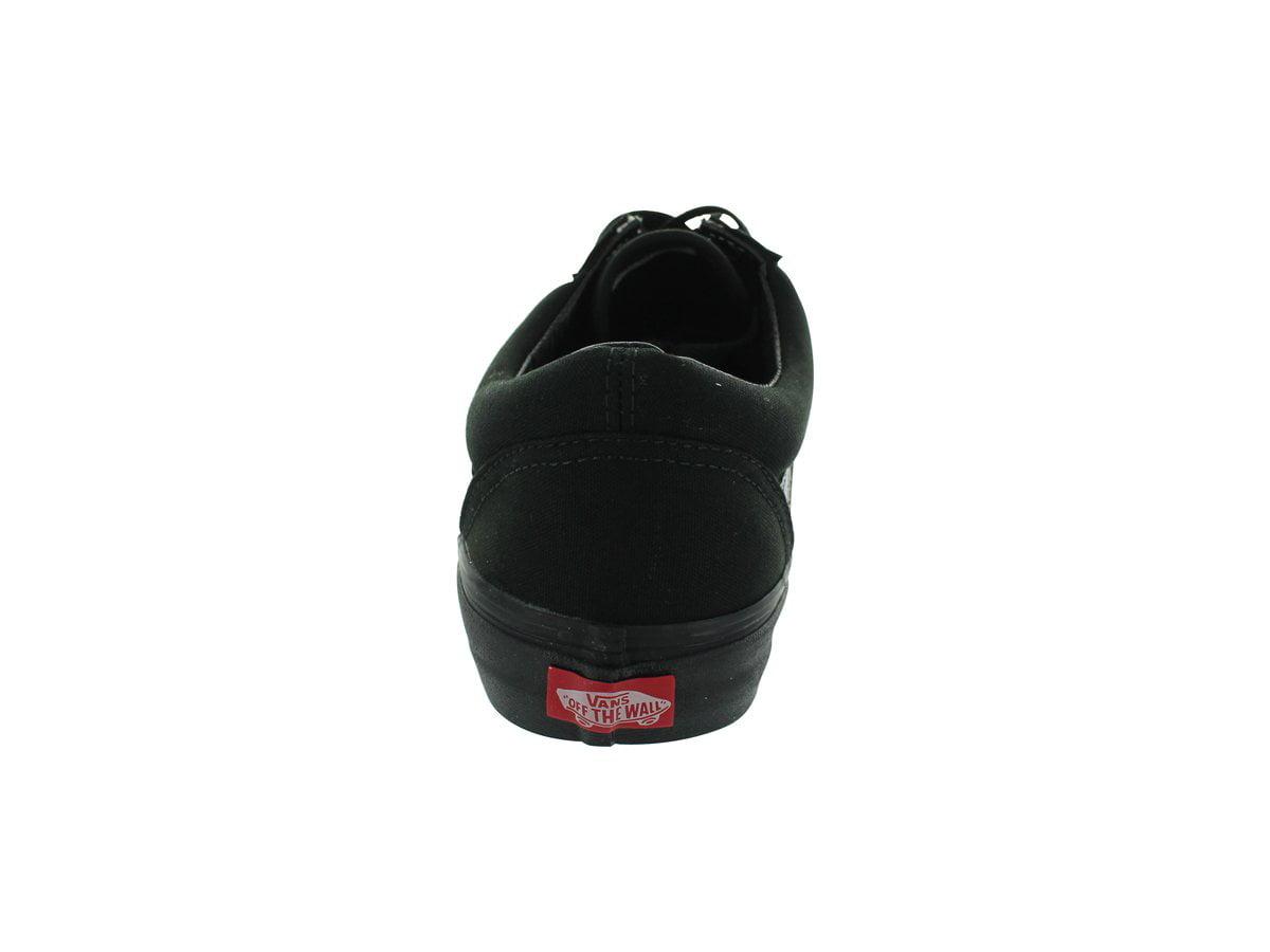 Vans VN-0D3HBKA: Old Skool Black Canvas Skate Sneaker (Black/Black,  9.5 B(M) US Women / 8 D(M) US Men)
