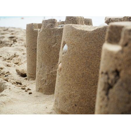 Canvas Print Sand Sculpture Holiday Sandburg Beach Sand Build Stretched Canvas 10 x 14