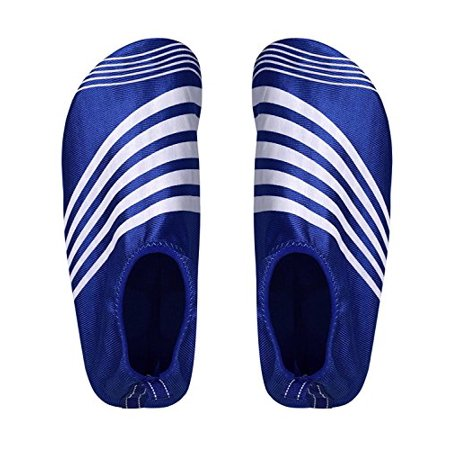 Peach Couture Mens Athletic Water Shoes Slip on Quick Drying Aqua Socks (Large, Blue White) - image 1 of 1