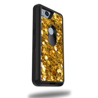 """MightySkins Skin Compatible With OtterBox Defender Google Pixel 2 XL 5.5"""" Case - Black Diamond Plate 