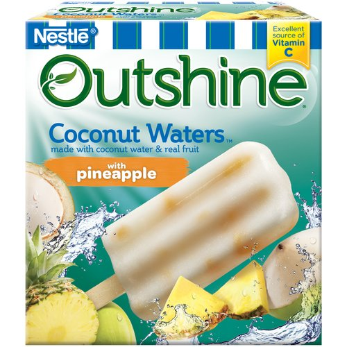 Dreyer's Outshine Coconut Waters Fruit Bars with  Pineapple, 6 ct, 16.1 fl oz