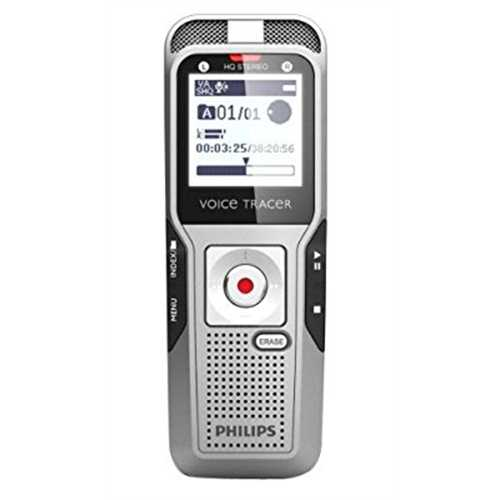 Philips DVT3500/00 2 GB Digital Voice Tracer with Telephone Pick-Up Microphone Voice Recorder