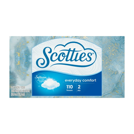 Scotties Everyday Comfort 2-Ply Facial Tissue, 110 Sheets