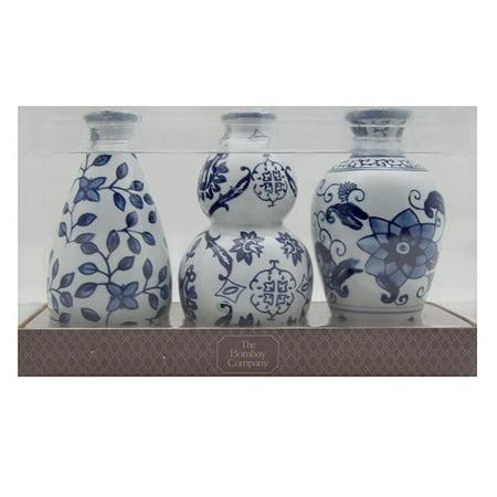 3pc Ceramic Vase Set 6bluewhite Walmart