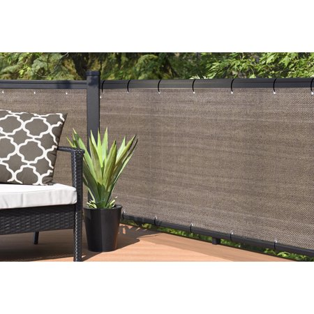 Alion Home Elegant Privacy Screen For Backyard Deck, Patio, Balcony, Fence, Pool, Porch, Railing - (Walnut,3' x 16') ()