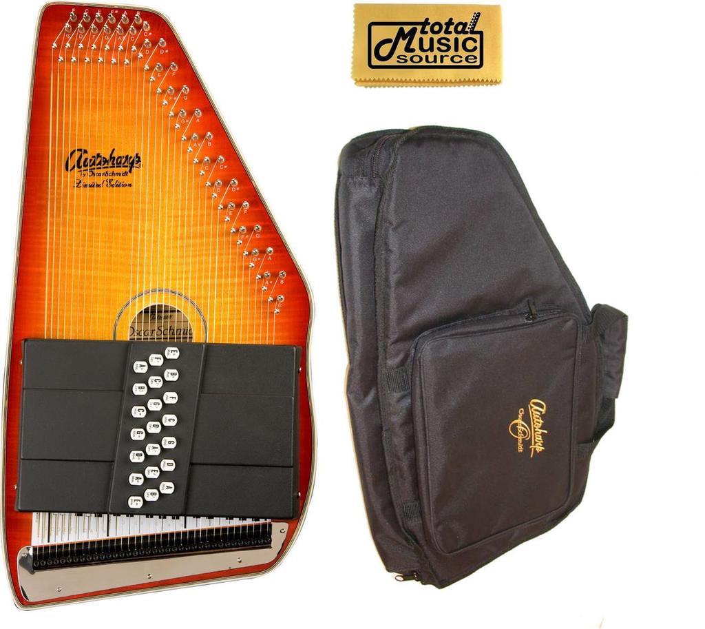 Oscar Schmidt 21 Chord Acoustic Electric Autoharp, Includes Gig Bag, OS11021FHSE-AC445 by Oscar Schmidt