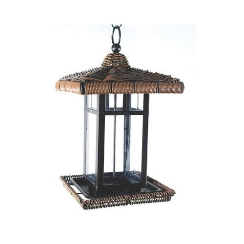 Audubon Wicker Square Lantern Bird Feeder
